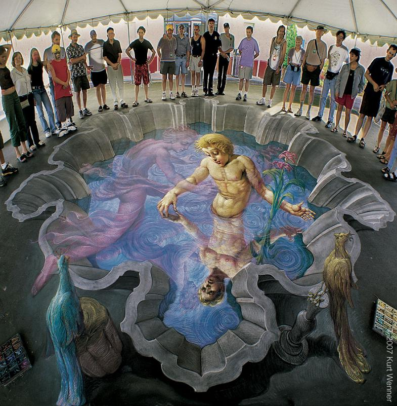 crazy incredible chalk art on street The Inventor and Master of 3D Sidewalk Chalk Art   Kurt Wenner