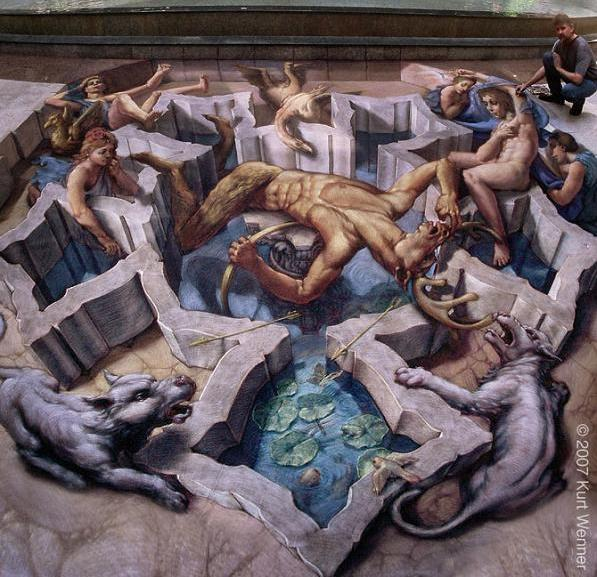 crazy insane 3d street art kurt wenner The Inventor and Master of 3D Sidewalk Chalk Art   Kurt Wenner