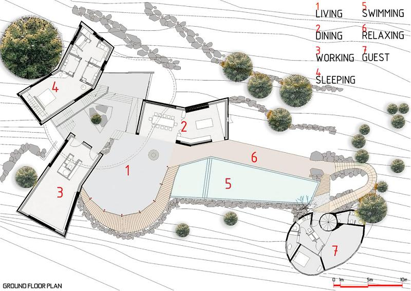 exploded house by gad design How to Build a Mansion When the Law Prohibits It