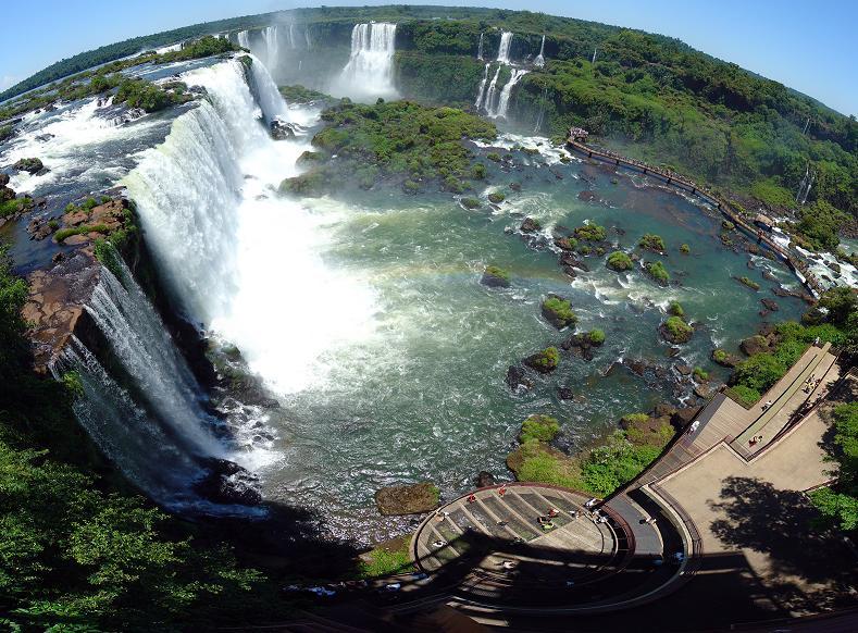 fisheye-aerial-of-iguazu-falls-brazil-argentina