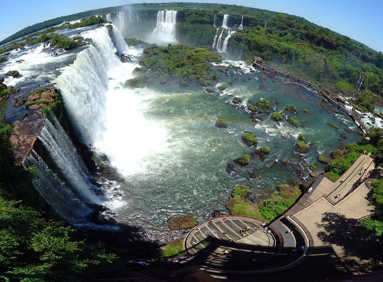 fisheye aerial of iguazu falls brazil argentina Iguazu Falls: 15 Amazing Pictures, 10 Incredible Facts