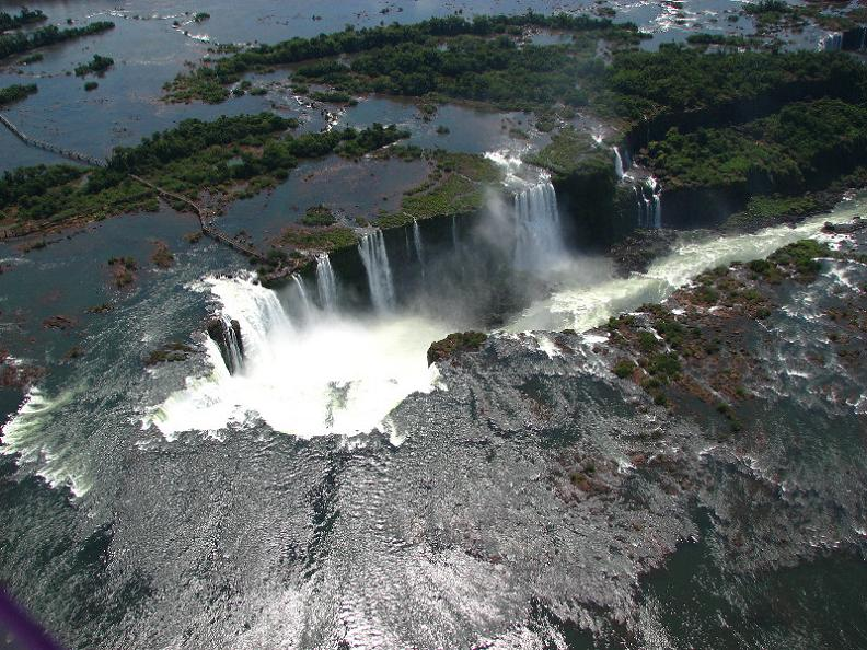 incredible aerial shot of waterfall Iguazu Falls: 15 Amazing Pictures, 10 Incredible Facts