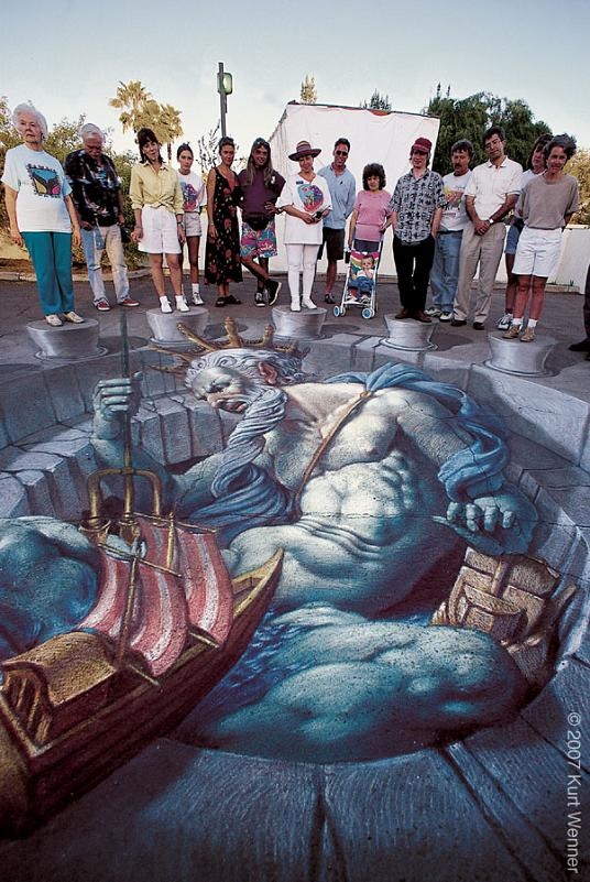 kurt wenner art The Inventor and Master of 3D Sidewalk Chalk Art   Kurt Wenner