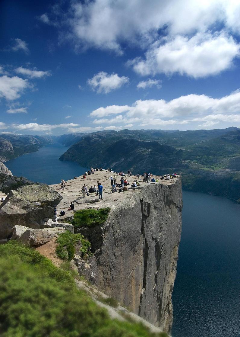 preachers pulpit in norway preikestolen The Stunning Cliffs of Norway