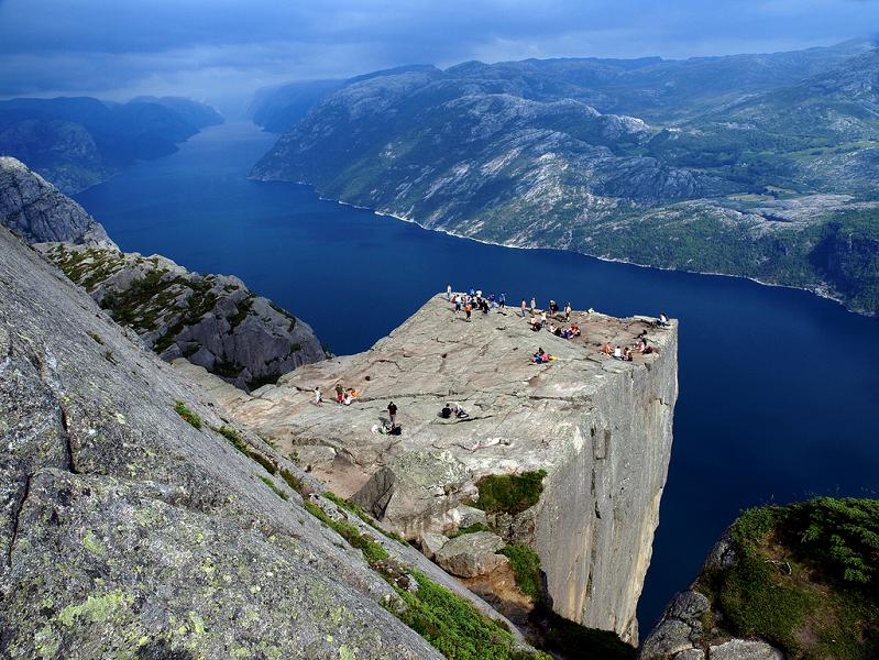 preikestolen pulpits rock from above The Stunning Cliffs of Norway