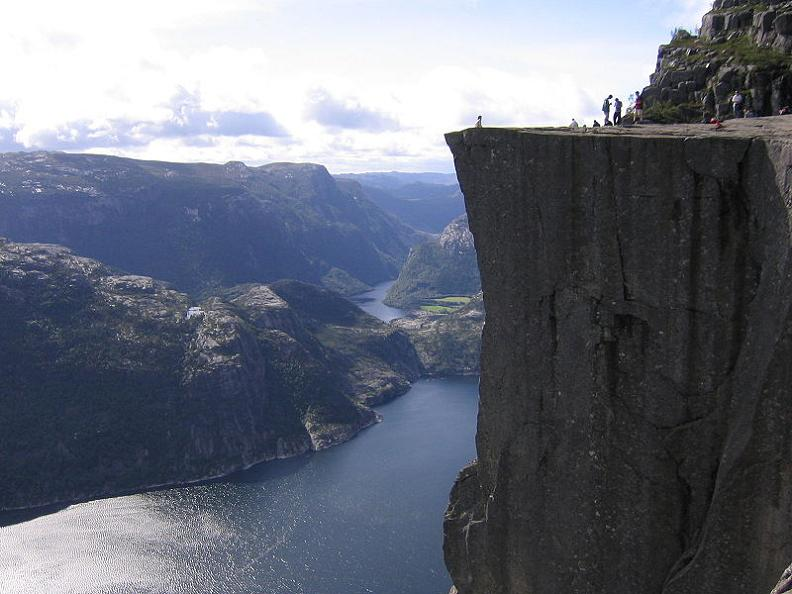 pulpit rock in norway side view The Stunning Cliffs of Norway