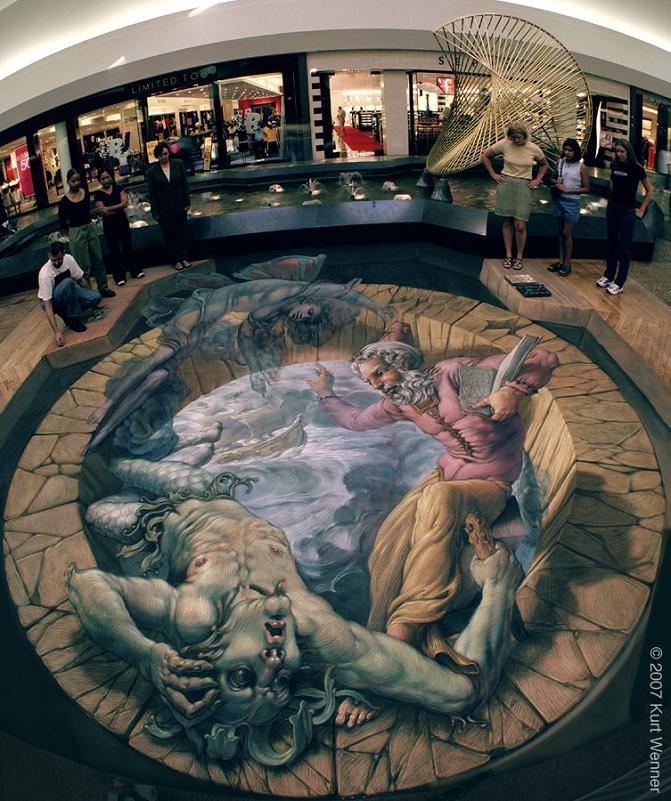 sidewalk street art kurt wenner The Inventor and Master of 3D Sidewalk Chalk Art   Kurt Wenner