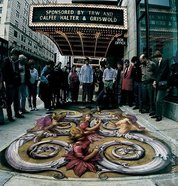 stunning 3d street art with chalk The Inventor and Master of 3D Sidewalk Chalk Art   Kurt Wenner