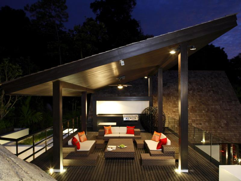stunning terrace design phuket thailand What a Mansion in Thailand Looks Like