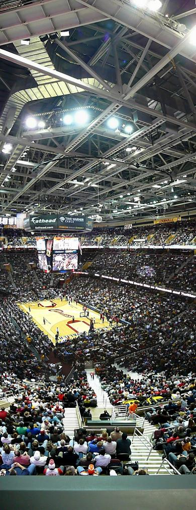 the q arena quicken loans arena cleveland cavs vertical panorama Vertical Panoramic Photography: 15 Breathtaking Examples