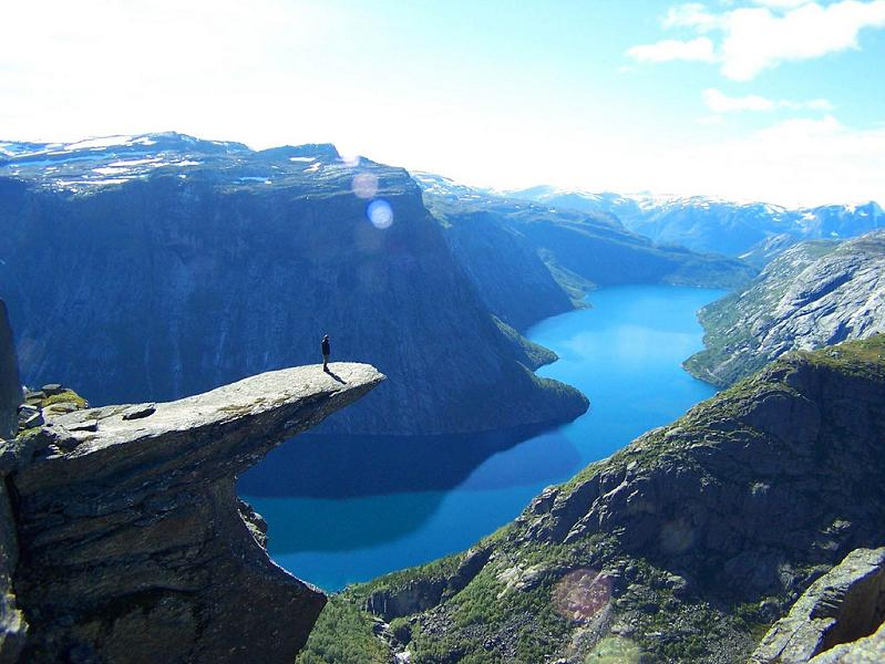 The stunning cliffs of norway twistedsifter - The house on the rock the ultimate refuge in a norwegian fjord ...