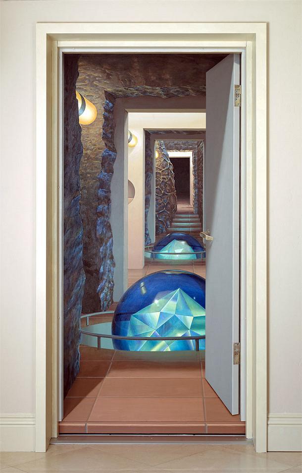 trompe l oeil incredible 3d wall art by john pugh twistedsifter. Black Bedroom Furniture Sets. Home Design Ideas