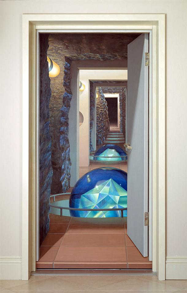 Trompe l oeil incredible 3d wall art by john pugh for 3d mural wall