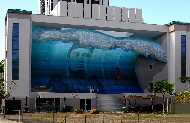 3d wall mural wave hawaii by john pugh Trompe Loeil: Incredible 3D Wall Art by John Pugh