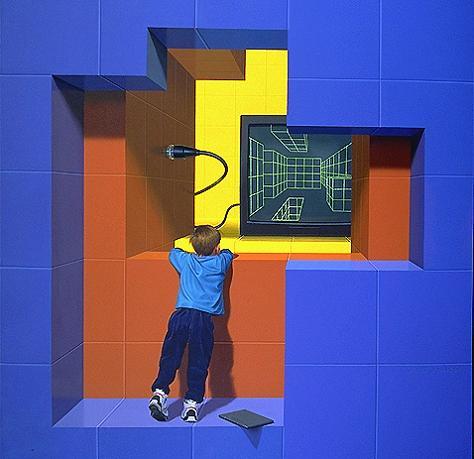 amazing 3d mural Trompe Loeil: Incredible 3D Wall Art by John Pugh