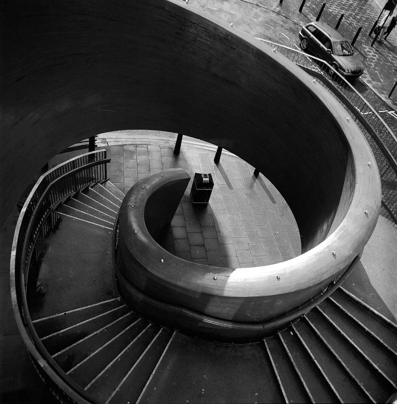 Spiral Staircase Blue Carpet Laing Art Gallery