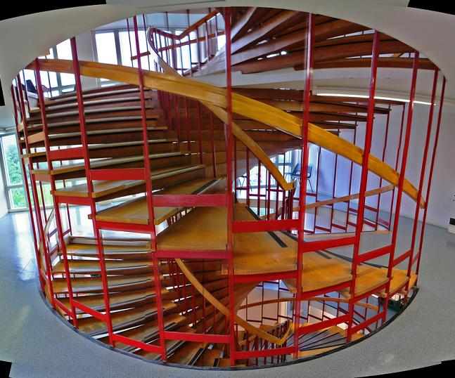 25 stunning images of spiral staircases twistedsifter for Double curved staircase