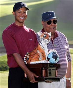 Tiger woods father spank