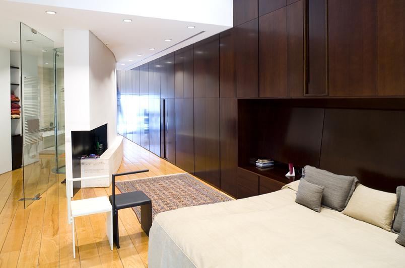 giant master bedroom Mega Mansion in Madrid by A Cero