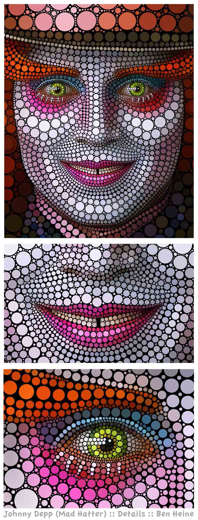 guide to circle art ben heine Art Made Entirely of Circles by Ben Heine
