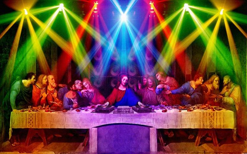 jesus dj last supper Picture of the Day   April 7, 2010