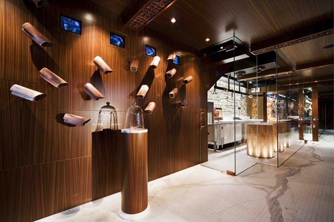 louis vuitton installation with cameras staring at bag The Coolest Butcher Shop in Australia