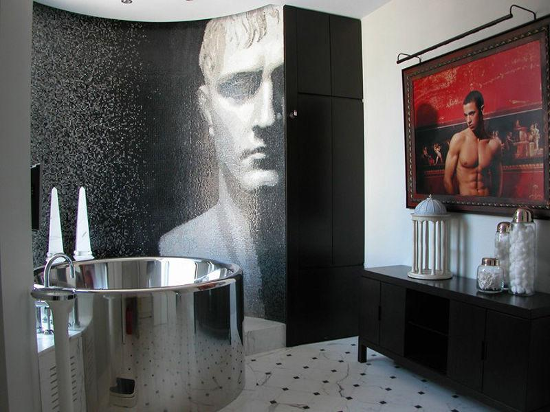 over the top bathroom in new york city A Townhouse in the Sky