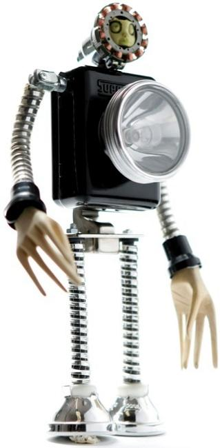 robotic figures by himatic Incredible Robot Sculptures Made from Old Electronic Parts