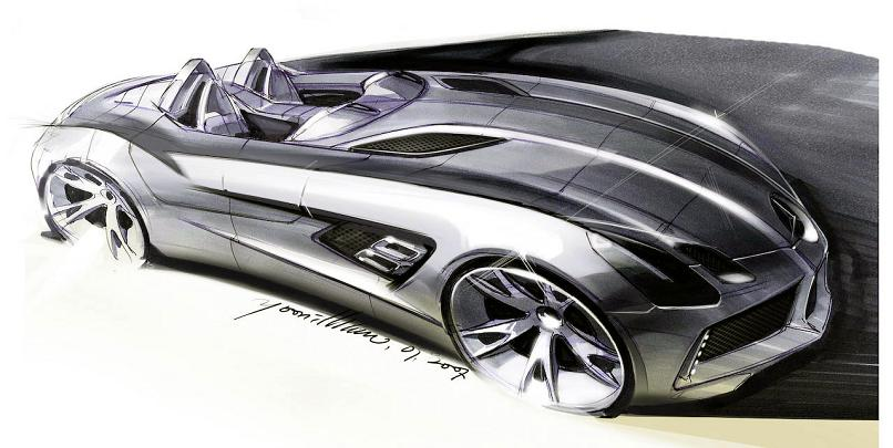 stirling moss sketch The Stirling Moss SLR