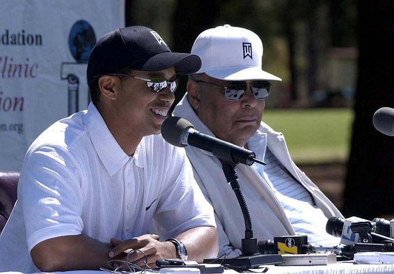 tiger woods and earl woods with his dad father The Recurring Marketing Theme: Tiger and his Dad, Earl Woods