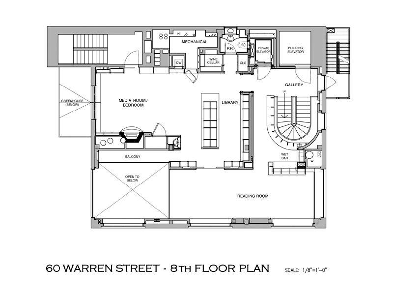 tribeca mansion floor plan A Townhouse in the Sky
