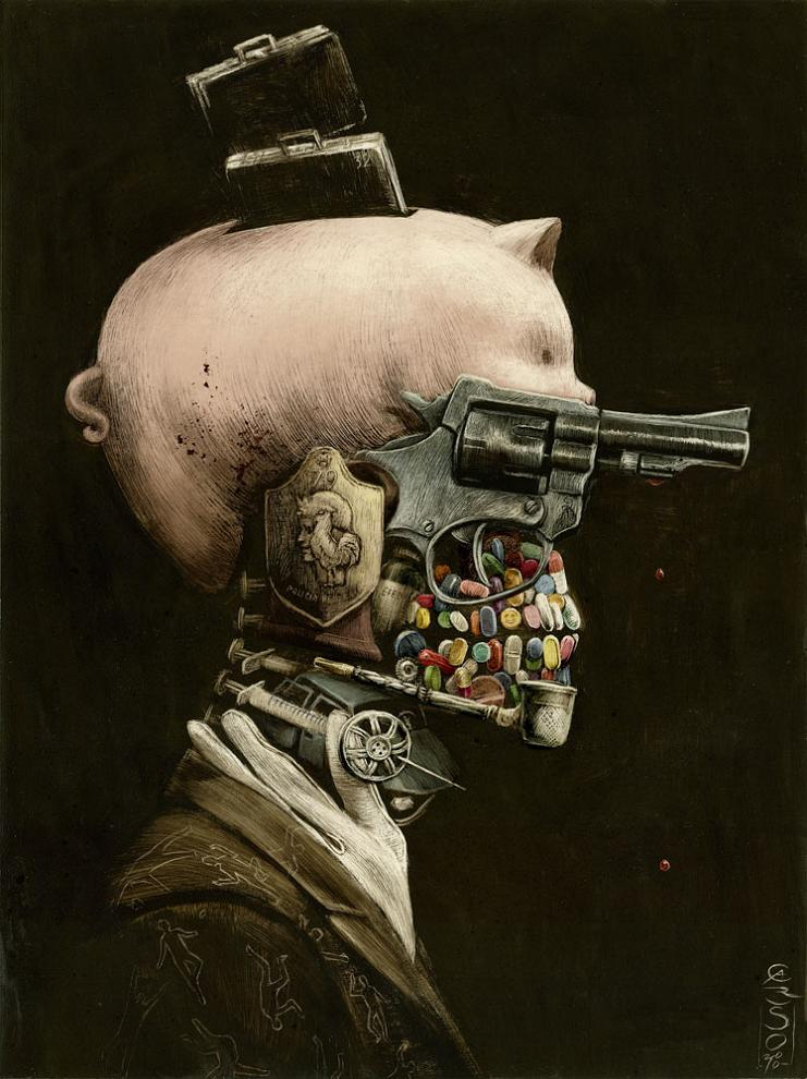 a portrait of crime by santiago caruso Picture of the Day   A Portrait of Crime