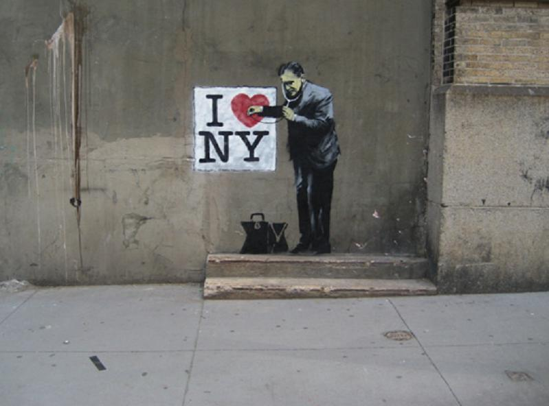 banksy i heart new york nyc Picture of the Day   Pulse Check