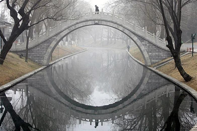bridge-reflection-in-water-makes-complete-circle