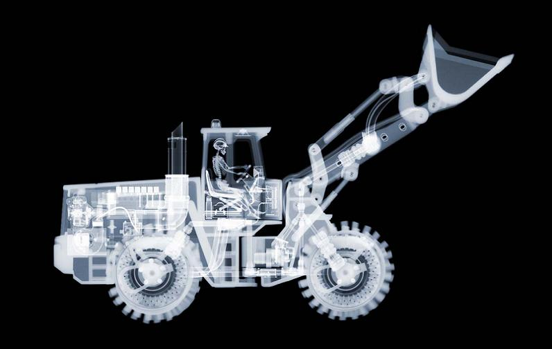 bulldozer x ray nick veasey Alcoholic Art: Liquor Under a Microscope