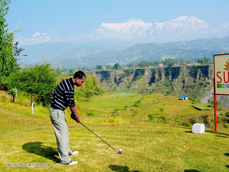 craziest tee shot ever golfing in the himalayas The Most Exotic Golf Course in the World
