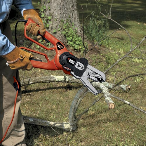 electric prunters Behold! The Alligator Lopper aka Chainsaw Scissors