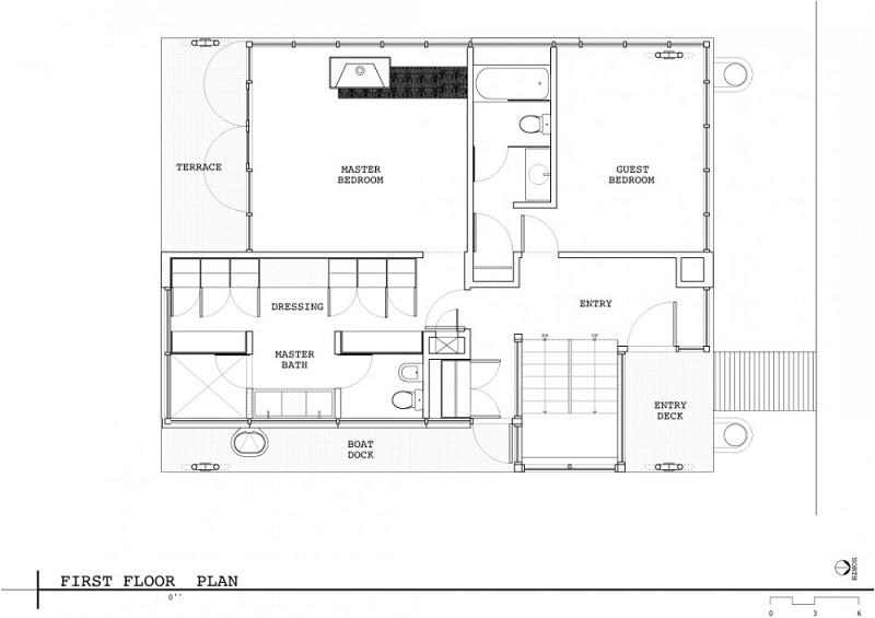 first floor plan vandc architects Im On A [House] Boat   Floating Home in Lake Union, Seattle