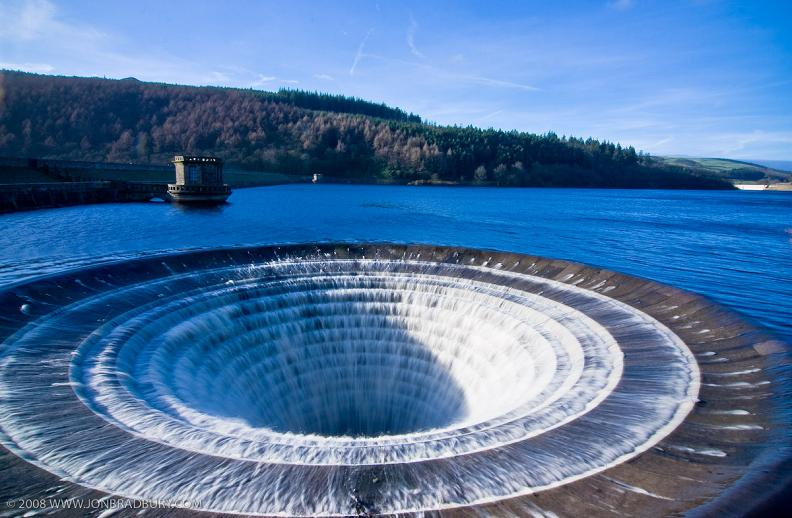 giant dam spillway ladybower resevoir Bell Mouth Spillways: How Giant Holes in the Water are Possible