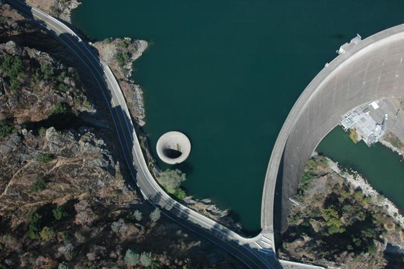 giant plughole monticello dam Bell Mouth Spillways: How Giant Holes in the Water are Possible