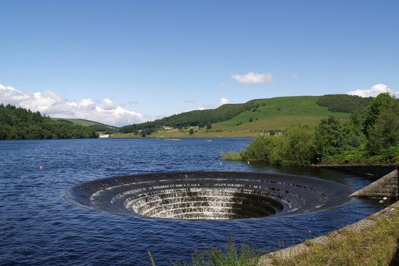 glory hole in water ladybower dam Bell Mouth Spillways: How Giant Holes in the Water are Possible