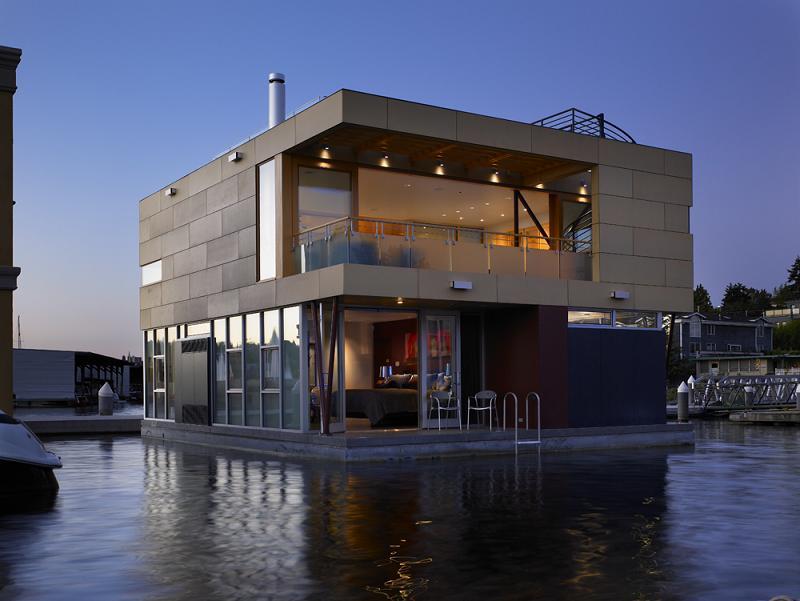 On A [House] Bo... Modern Houseboat Floor Plans