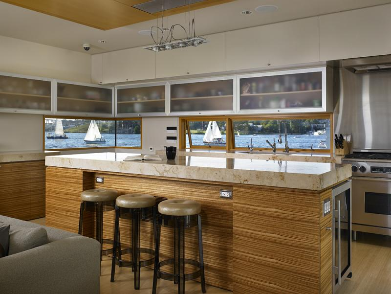 kitchen houseboat floating home beautiful Im On A [House] Boat   Floating Home in Lake Union, Seattle