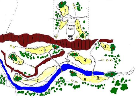 map of the himalayan golf club The Most Exotic Golf Course in the World