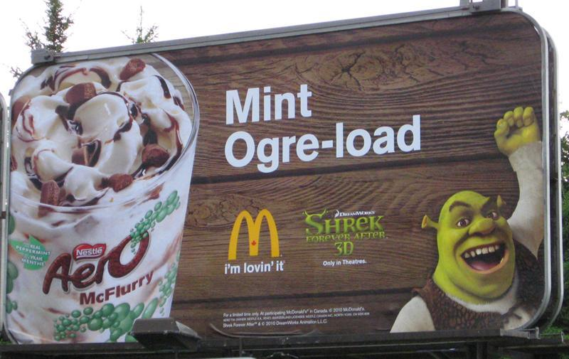 shrek mint ogre load billboard fail Picture of the Day   May 26, 2010