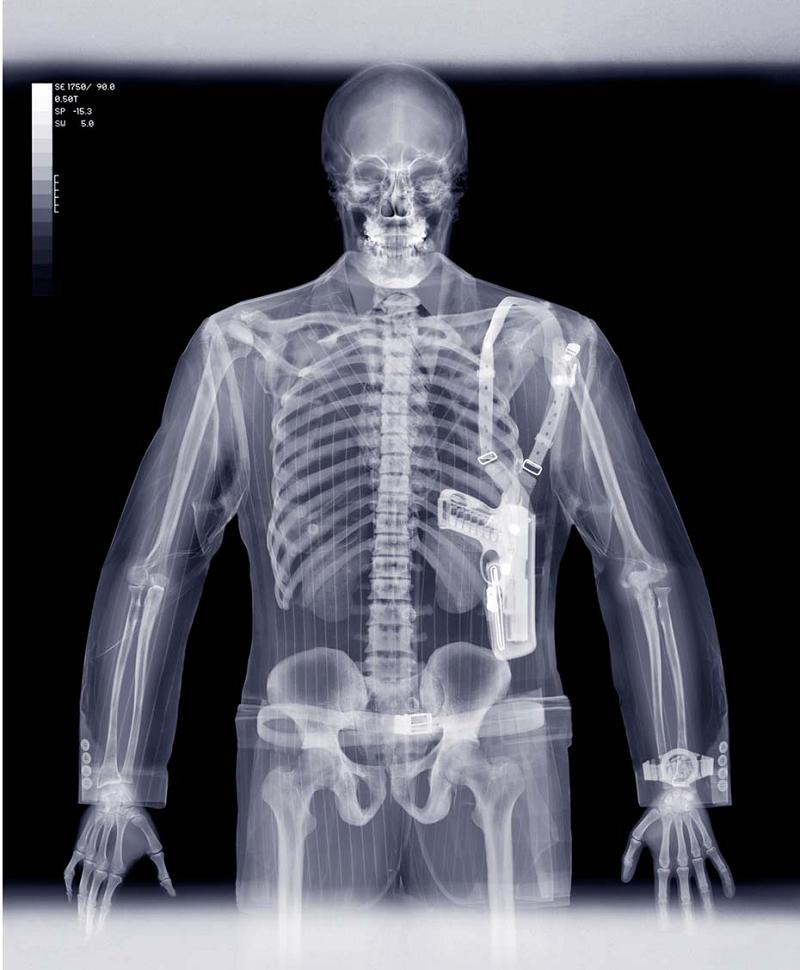 x ray of man concealing weapon The X Ray Vision of Nick Veasey