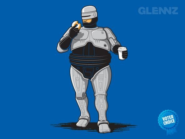 actual robocop fat 25 Hilarious Illustrations by Glennz
