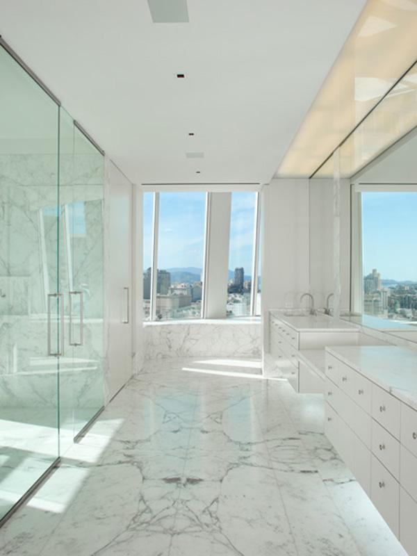 amazing bathroom marble The Craziest Penthouse in San Francisco