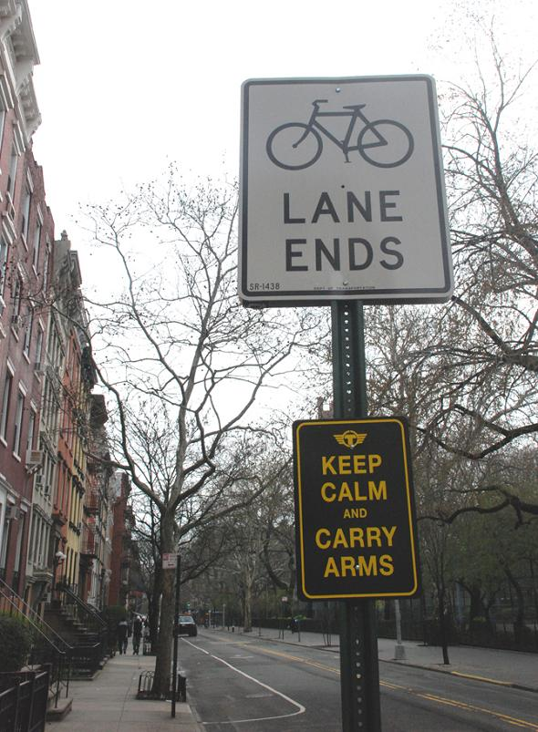 carry arms street sign funny Signs of the Times by Trusto Corp