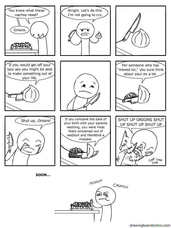 comic onions mkaing you cry with insults Onions [Comic Strip]